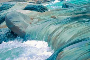 blue and turquoise water flowing
